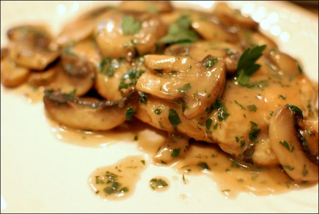With Italian style: Chicken Marsala