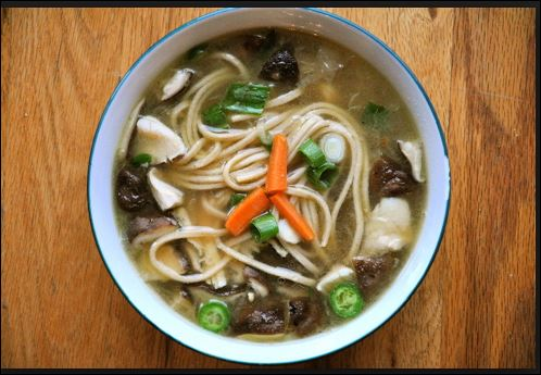 Mushroom Noodles Soup