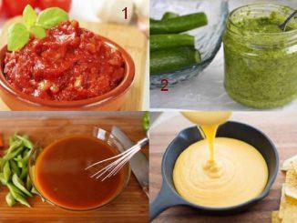 Популярни рецепти за сосове салца, копър, сладко-кисел, от сирене