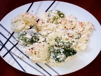 Оригинална салата с карфиол и броколи