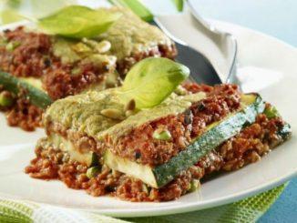 Рецепта за диетична лазаня без тесто