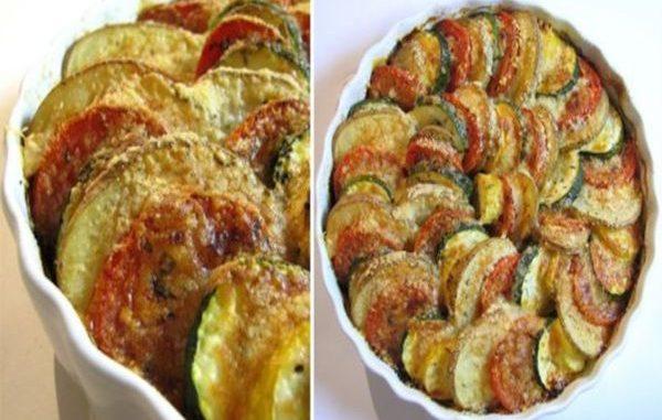 Тиквички на фурна - печена спирала от зеленчуци на фурна