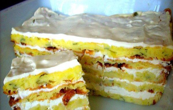 Рецепта за солена торта от тиквички