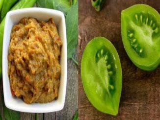 Зелен айвар рецепта със зелени домати