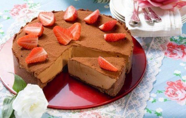 Шоколадов чийзкейк без печене рецепта