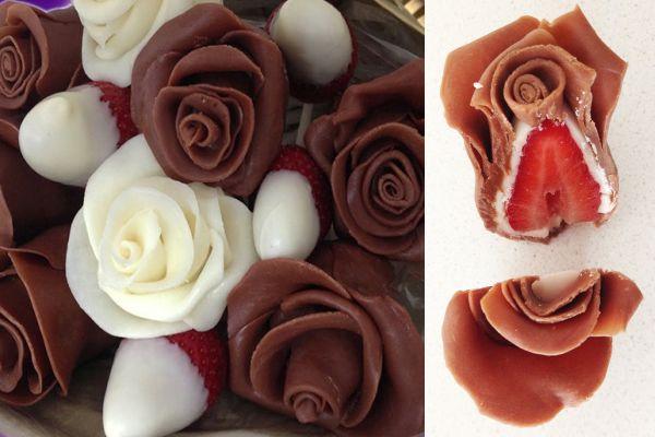 Рецепта за рози от шоколад