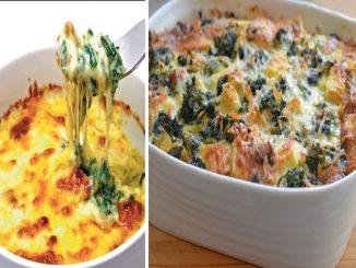 Запечен спанак със сирене и кашкавал – лек, но божествено вкусен обяд