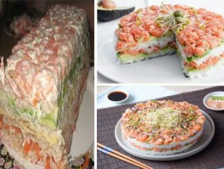 Суши салата или Солена торта Суши