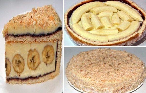 Бананова торта лесна рецепта