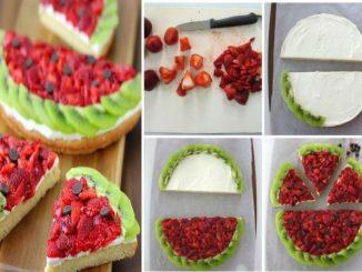 "Невероятна идея за десерт: Плодова пица ""Диня"""