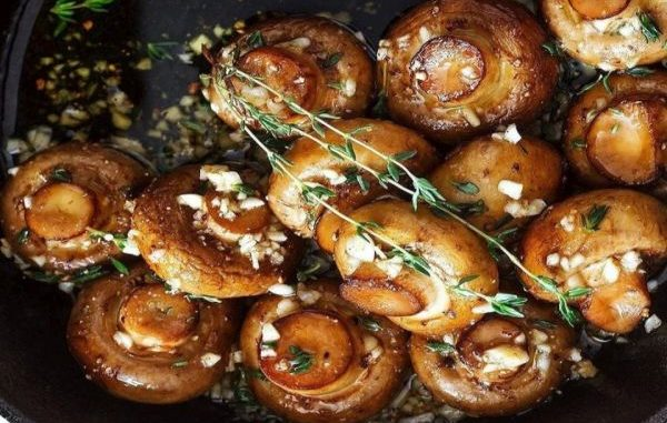 Гъби в маслено-чеснов сос рецепта