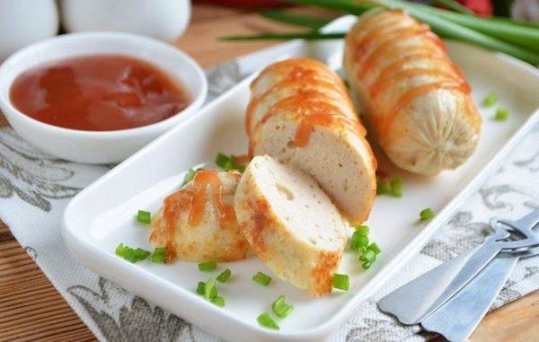 Домашни наденици с пилешко